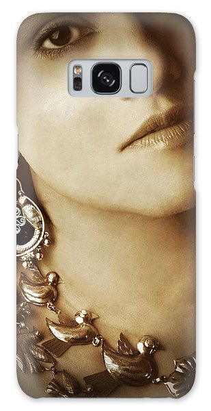 Woman In Mexican Silver Jewelry Galaxy Case
