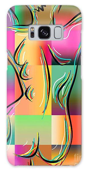 Woman In Nude 3 Galaxy Case