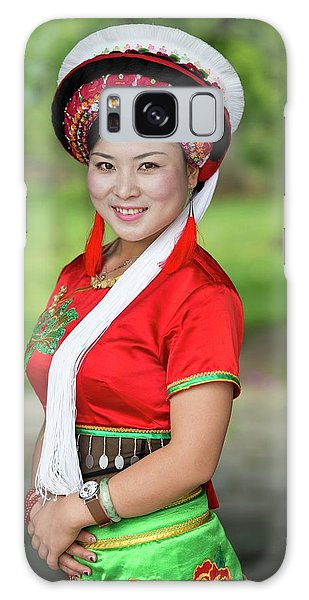People's Republic Of China Galaxy Case - Woman Of The Bai Ethnic Minority In China by Tony Camacho