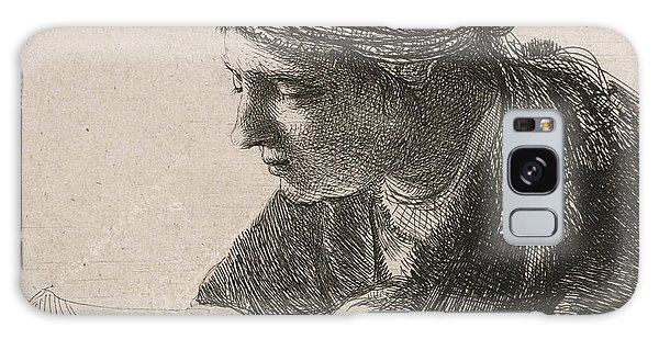 Turban Galaxy Case - Woman Reading by Rembrandt