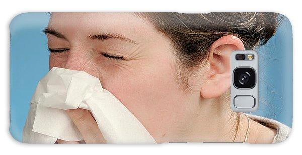 Tissue Galaxy Case - Woman Sneezing by Public Health England