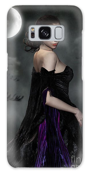 Woman Standing In Night Mist And Fog Galaxy Case