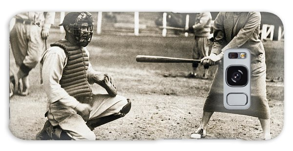 Woman Tennis Star At Bat Galaxy Case by Underwood Archives