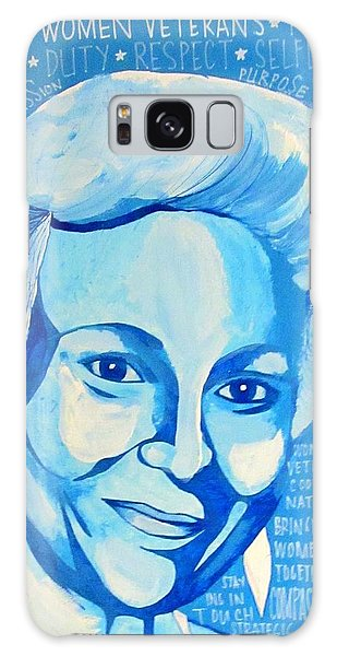 Galaxy Case featuring the painting Woman Veteran Gabe by Michelle Dallocchio
