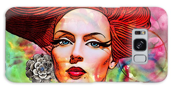 Woman With Earring Galaxy Case