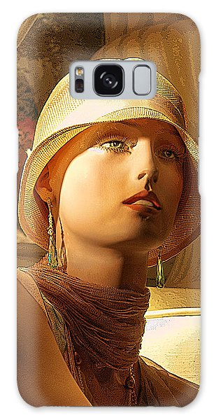 Woman With Hat Galaxy Case