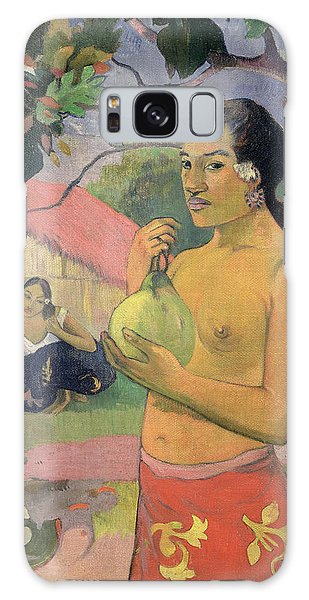 Woman With Mango Galaxy Case by Paul Gauguin