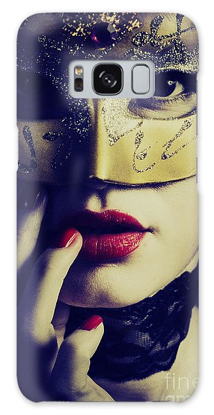 Woman With Mask Galaxy Case