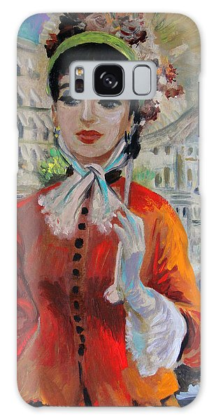 Woman With Parasol In Paris Galaxy Case by Karon Melillo DeVega