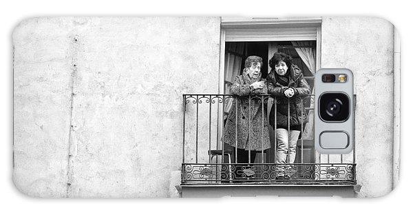 Women In Balcony Galaxy Case