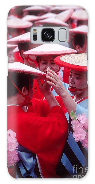Women In Heian Period Kimonos Preparing For A Parade Galaxy Case
