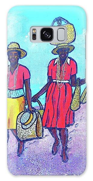 Women On Beach At Grenada Galaxy Case