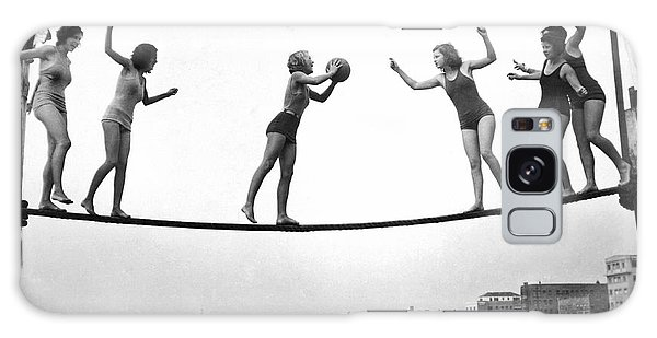 Women Play Beach Basketball Galaxy Case by Underwood Archives