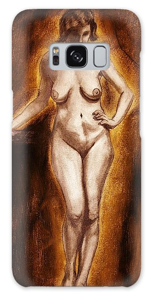 Women With Curves Are Beautiful 2 Galaxy Case by Michael Cross