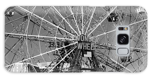 Wonder Wheel Of Coney Island In Black And White Galaxy Case