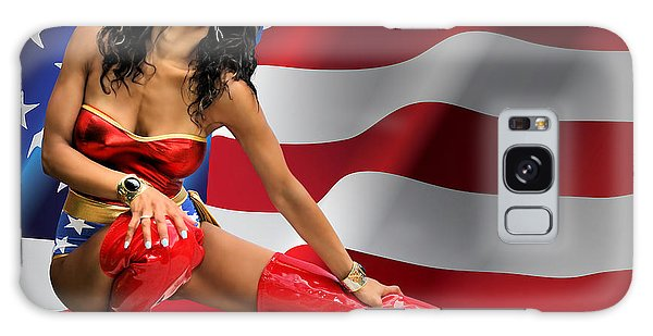 Flag Day With Wonder Warrior Galaxy Case