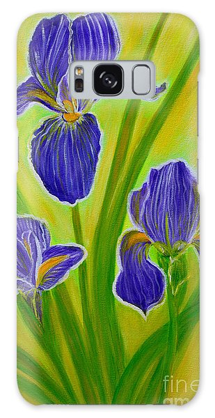 Wonderful Iris Flowers 3 Galaxy Case