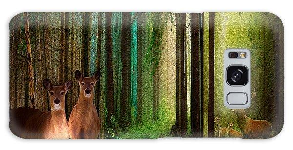 Wood Deer Galaxy Case