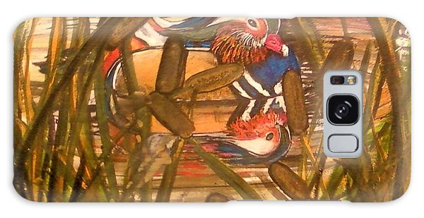 Wood Duck At Peace Galaxy Case