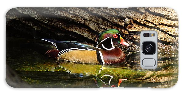 Wood Duck In Wood Galaxy Case by Robert Frederick
