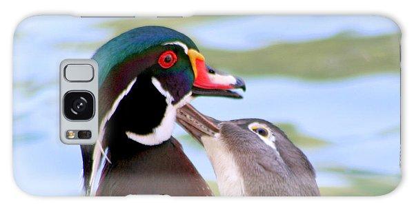 Wood Duck Love Galaxy Case