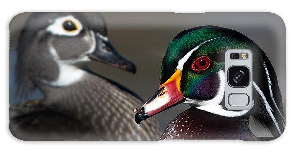 Wood Duck Pair Galaxy Case by Stephen  Johnson