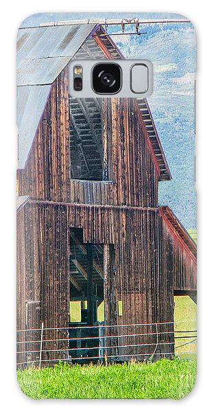 Wood Iron And Hayloft Galaxy Case