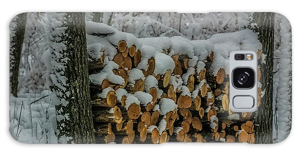 Wood Pile Galaxy Case by Paul Freidlund