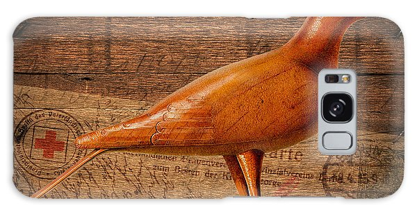 Wood Postal Pigeon Galaxy Case