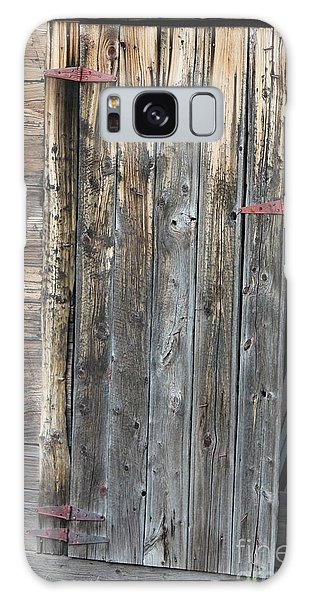 Galaxy Case featuring the photograph Wood Shed Door by Ann E Robson