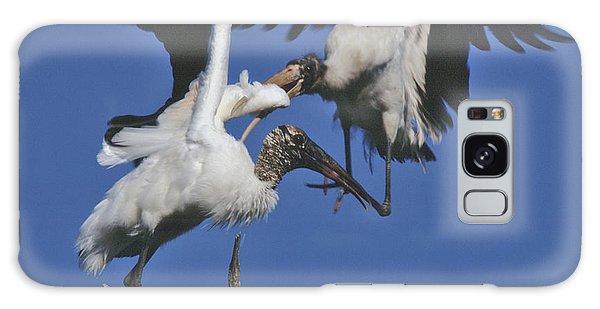 Wood Stork Fight Galaxy Case