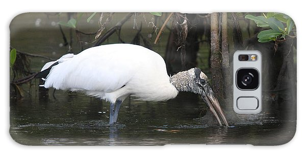 Wood Stork In The Swamp Galaxy Case by Christiane Schulze Art And Photography
