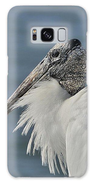 Wood Stork Portrait Galaxy Case