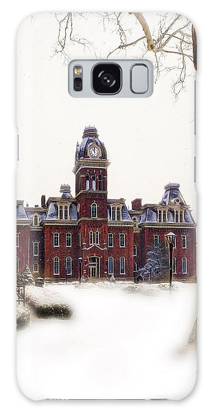 Galaxy Case featuring the photograph Woodburn Blowing Snow by Dan Friend
