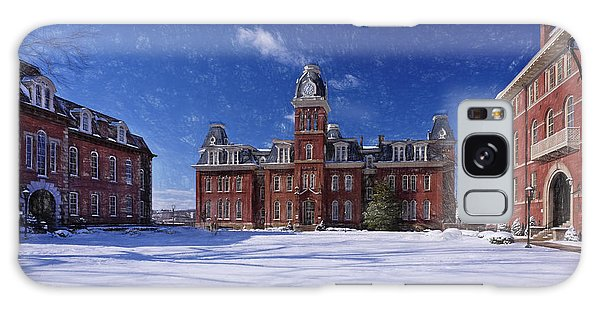 Galaxy Case featuring the photograph Woodburn Hall In Snow Strom Paintography by Dan Friend