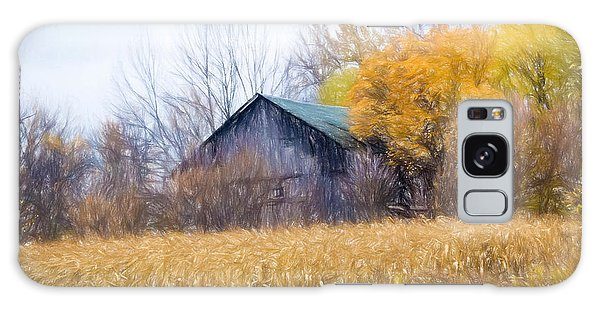 Wooden Autumn Barn Galaxy Case