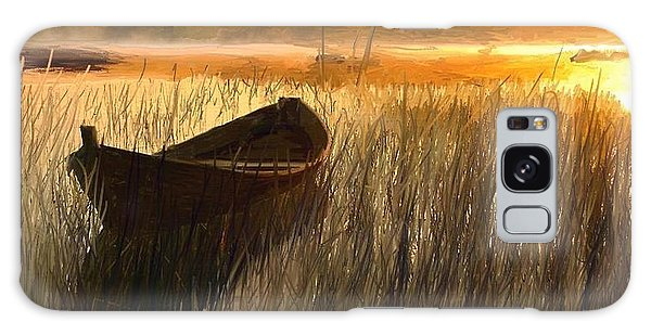 Wooden Boat Finland Galaxy Case by Randy Sprout