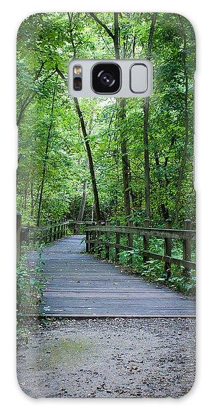 Wooden Bridge Galaxy Case by Wayne Meyer