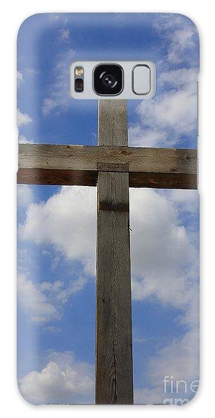Wooden Cross Galaxy Case