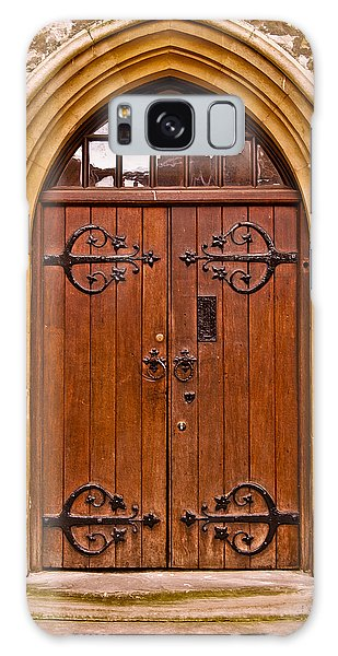 Wooden Door At Tower Hill Galaxy Case