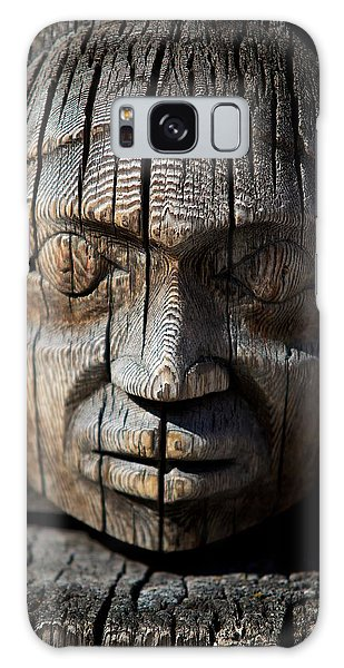 Wooden Face Galaxy Case by Andre Faubert