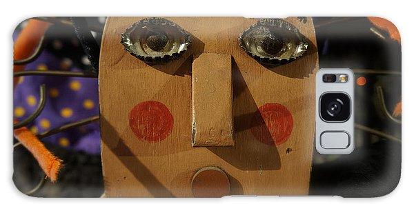 Wooden Face Galaxy Case