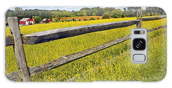 Galaxy Case - Wooden Fence Pennsylvania Countryside Montgomery County by A Gurmankin