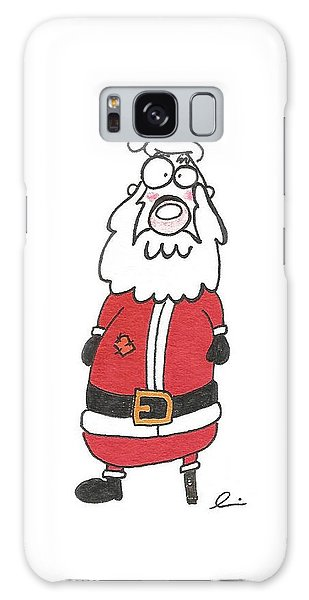Wooden Leg Santa Galaxy Case