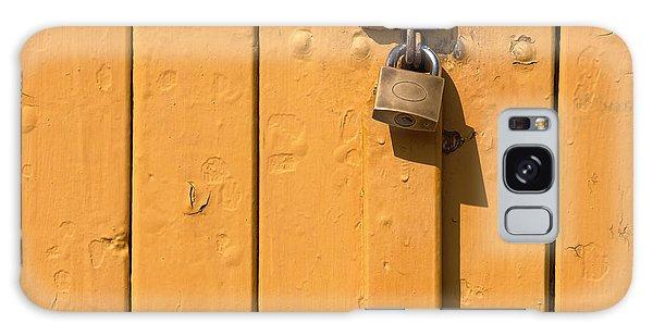 Wooden Plank Door Steel Lock Galaxy Case