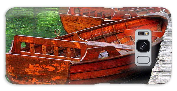 Wooden Rowboats Galaxy Case by Ramona Johnston