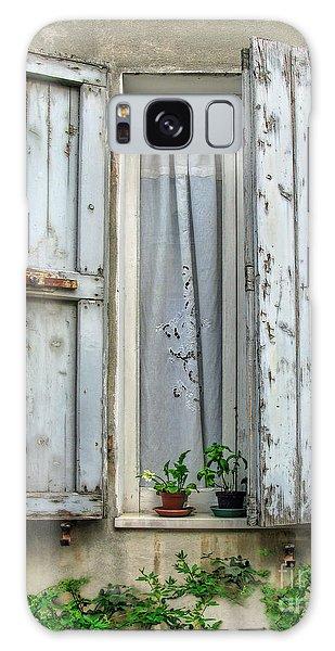 Wooden Shutters In Urbino Galaxy Case by Jennie Breeze