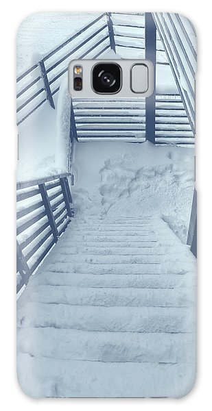 Wooden Steps Covered With Snow Galaxy Case by Vlad Baciu