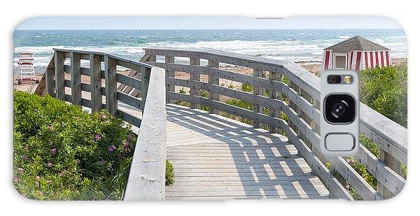 Board Walk Galaxy Case - Wooden Walkway To Ocean Beach by Elena Elisseeva