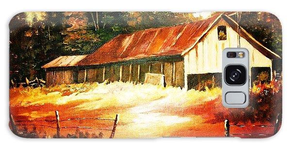 Woodland Barn In Autumn Galaxy Case